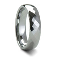 Thorsten Millennium Tungsten Carbide Ring w/ Diamond Facets (4-10mm) W272-DFW