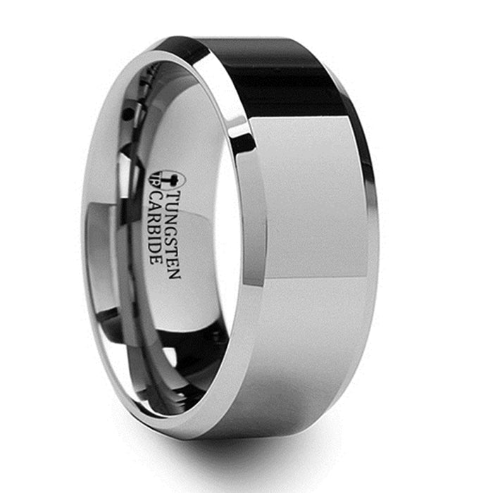 Thorsten Corinthian Tungsten Carbide Ring With Bevels (4-10mm) W664-FBB