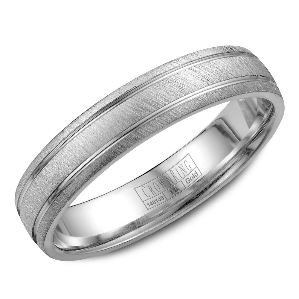 CrownRing Classic Collection 4.5MM Wedding Band with Textured Finish WB-7929
