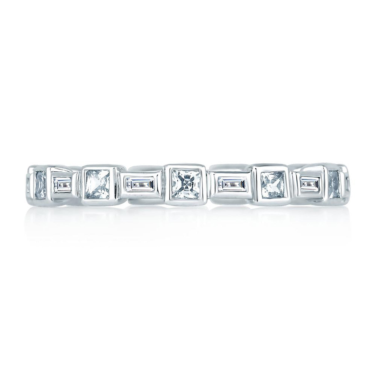 A. Jaffe Princess and Baguettes Eternity Anniversary Ring WR0840/65