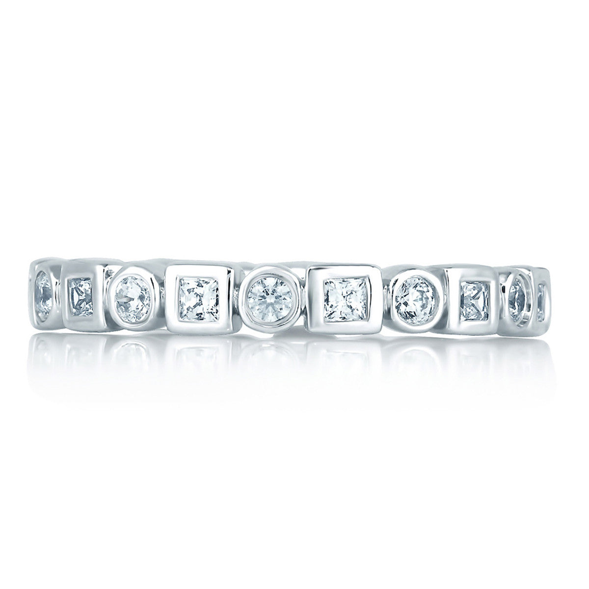 A. Jaffe Round and Princess Diamond Eternity Anniversary Ring WR0841/61