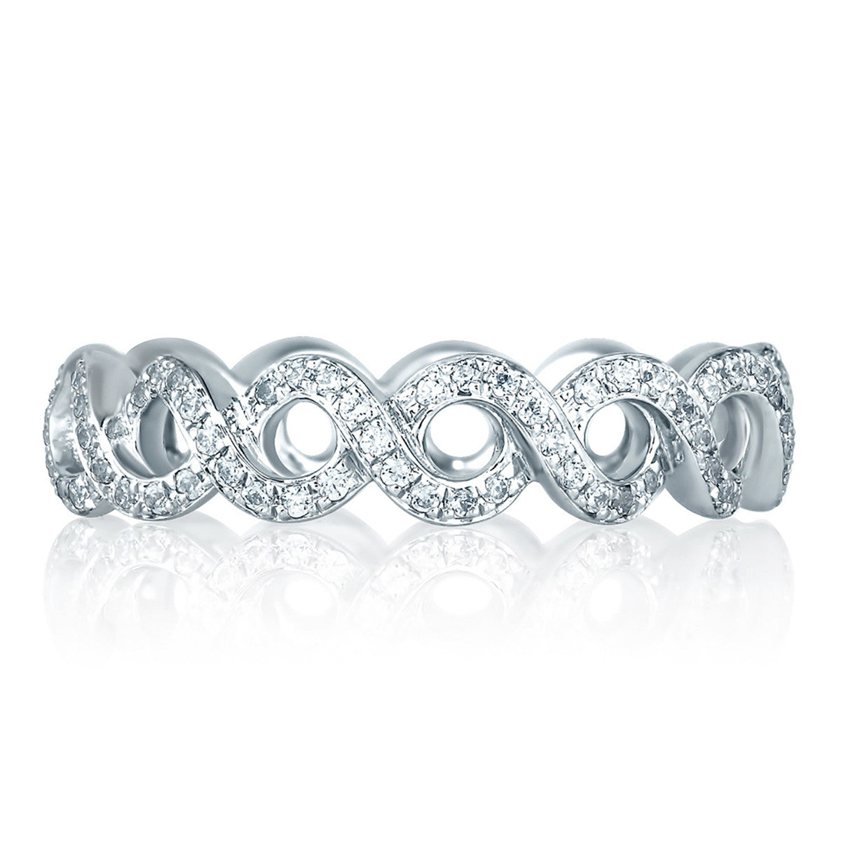 A. Jaffe Vine Motif Eternity Diamond Stackable Anniversary Ring WR0850/47