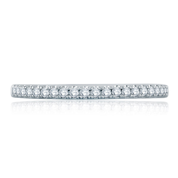 A. Jaffe French Pave Half Circle Diamond Stackable Band WR1044/16