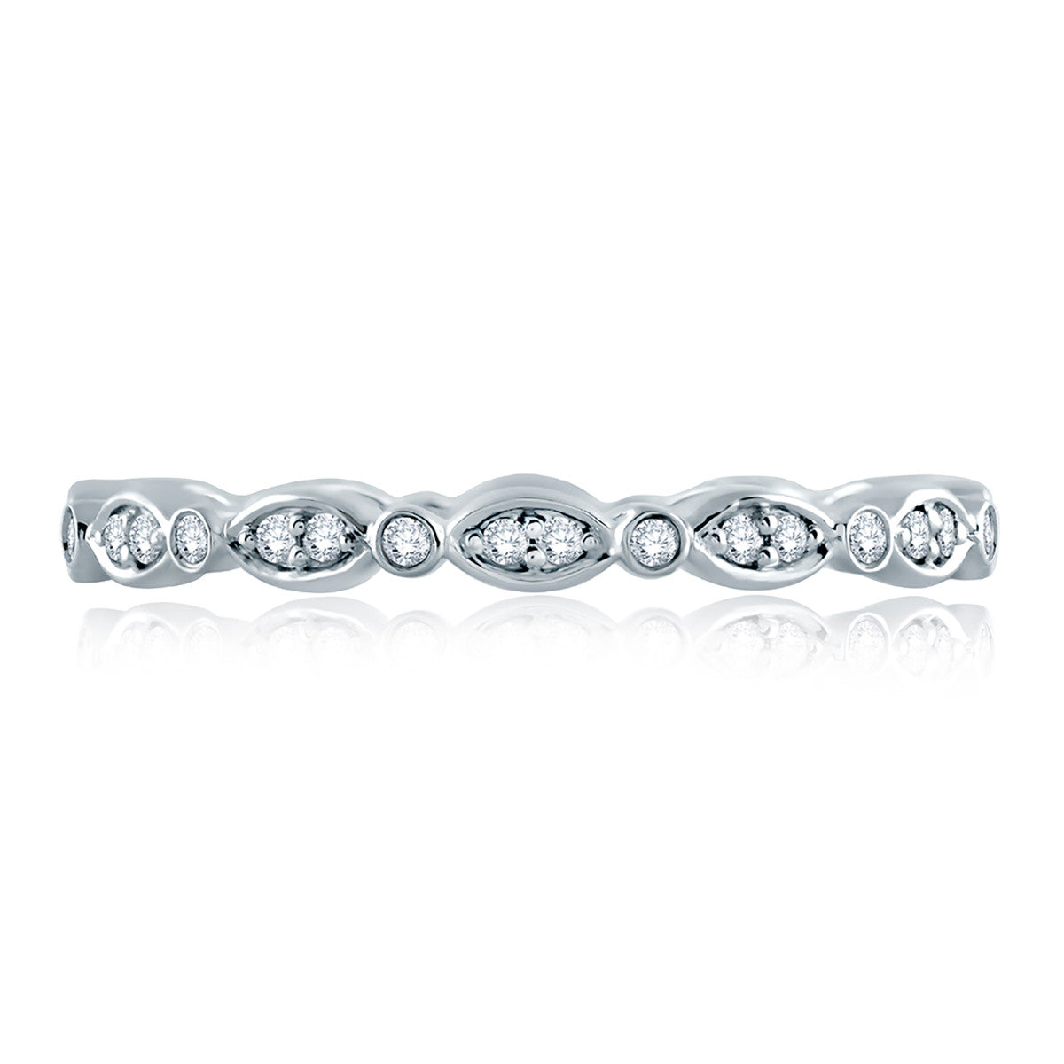 A. Jaffe Marquise and Round Shape Diamond Stackable Band WR1045/18