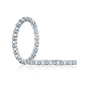 A. Jaffe Alternating Bezel Set Diamond Stackable Band WR1048/70