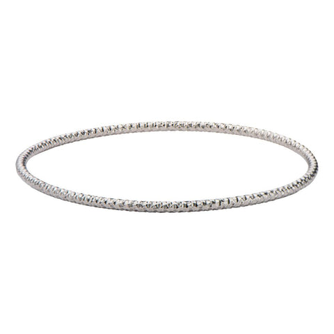 Inox Jewelry Stainless Steel Hammered Bangle 8