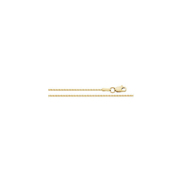 14K Gold 1mm Diamond-Cut Wheat Chain with Lobster Closure