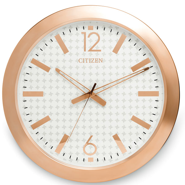 Citizen Gallery Rose Gold-Tone with White Dial Wall Clock CC2007