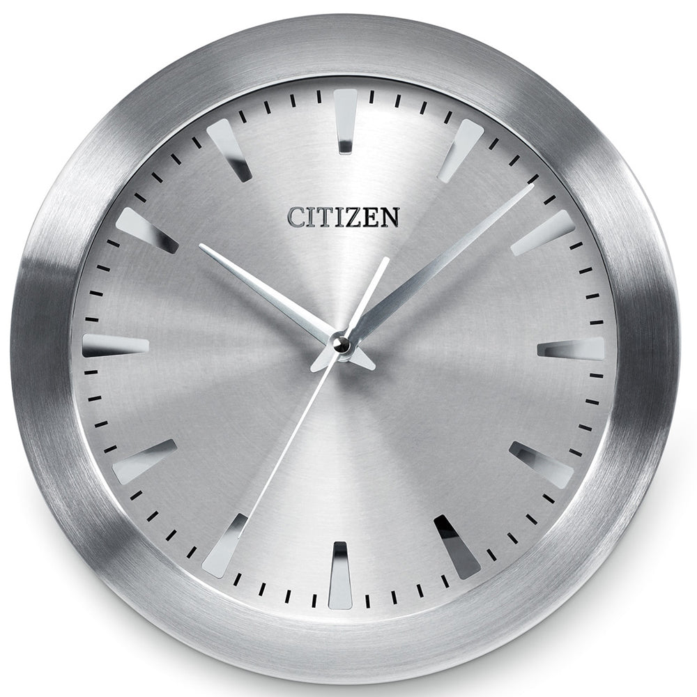 Citizen Gallery Brushed Silver-Tone with Grey Dial Wall Clock CC2003