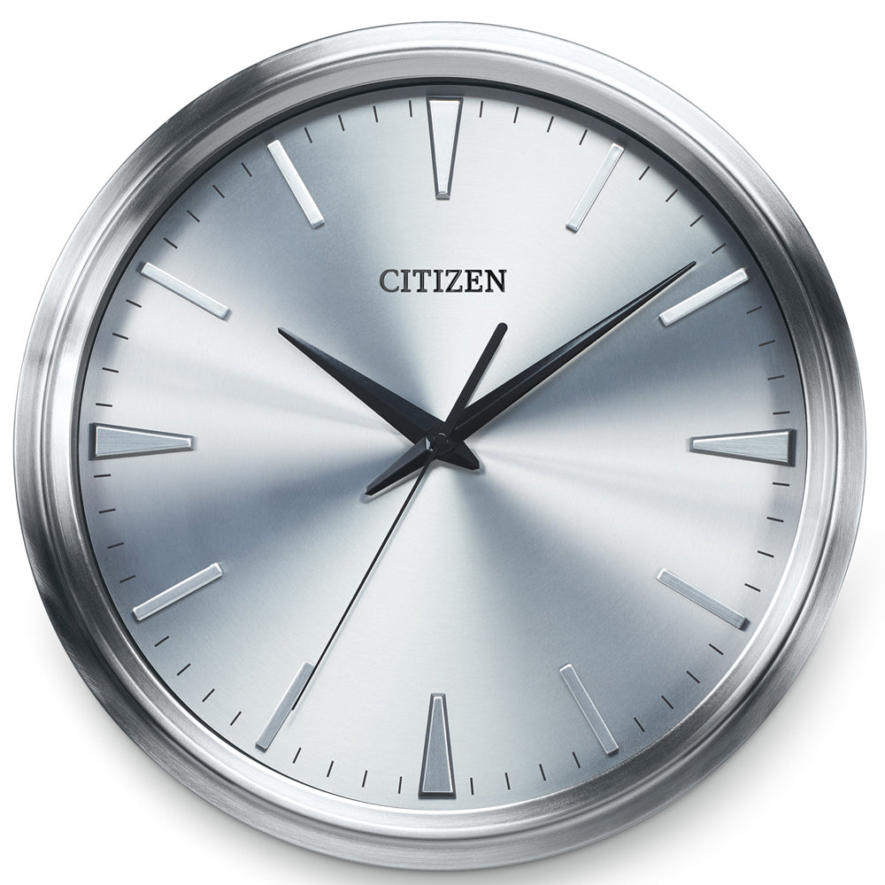 Citizen Gallery Brushed Silver-Tone with Silver Color Dial Wall Clock CC2004