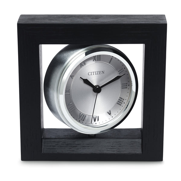 Citizen Decorative Accent Silver-Tone Spinning Clock with Photo Holder CC1009