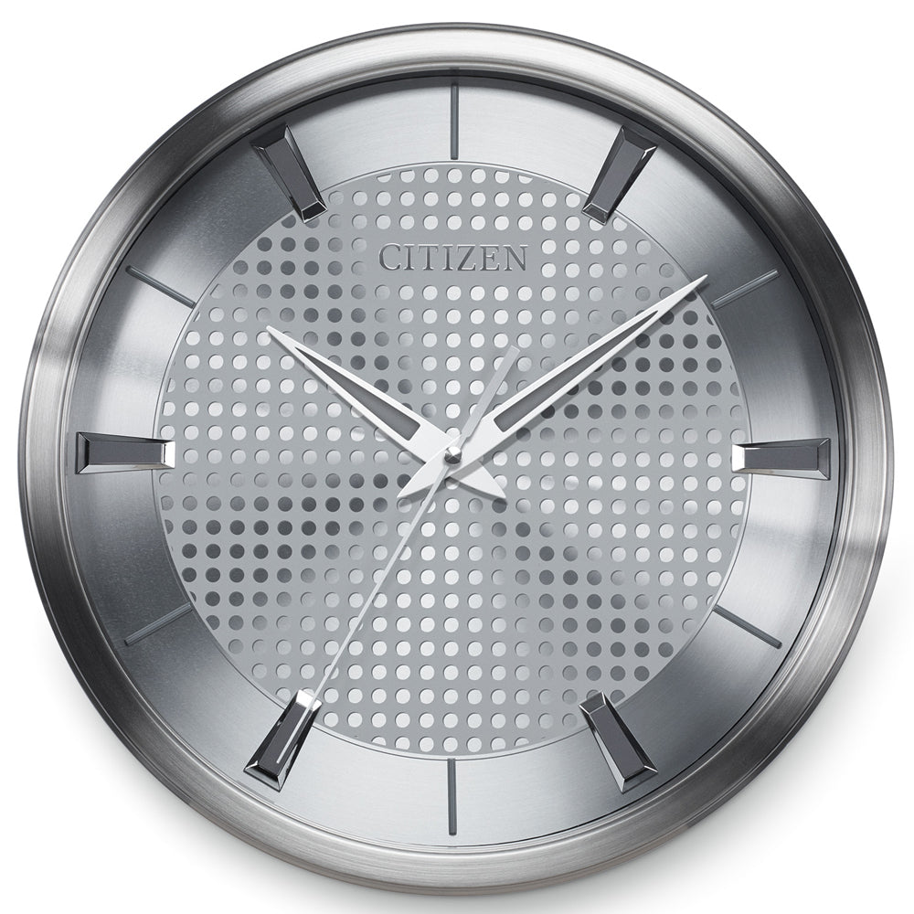 Citizen Gallery Brushed Silver with Silver Colored Dial Wall Clock CC2008
