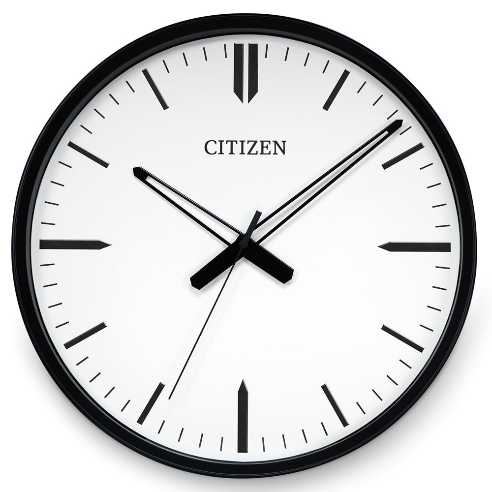 Citizen Gallery Black with White Dial Wall Clock CC2005