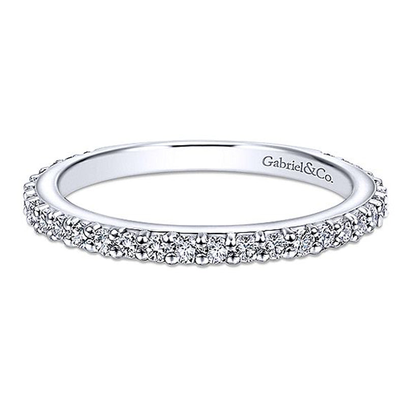 Gabriel & Co. 14K White Gold Stackable Collection Fashion Diamond Ring LR4576W44JJ