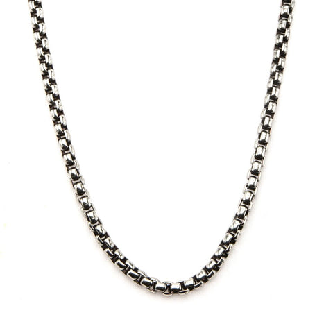 Inox Jewelry Stainless Steel 3mm Black Oxidized Bold Box Chain NSTC9230