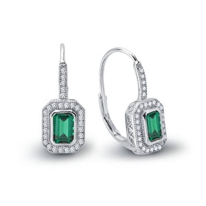 Lafonn Signature Lassaire Simulated Diamond & Emerald Dangle Earrings E0124CEP