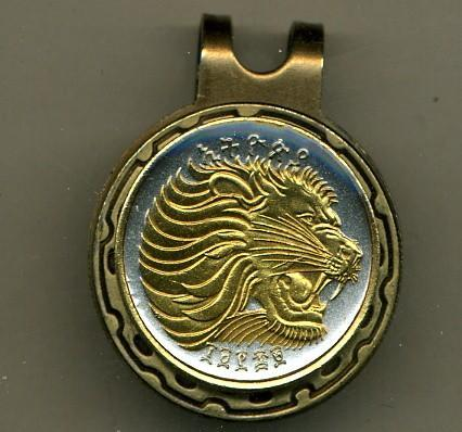 "Ball Markers - Ethiopia 25 Cent ""Lion"" (U.S. Nickel Size)"