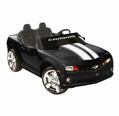 Battery Powered - NPL Chevrolet Racing Camaro Black 12v Car Black