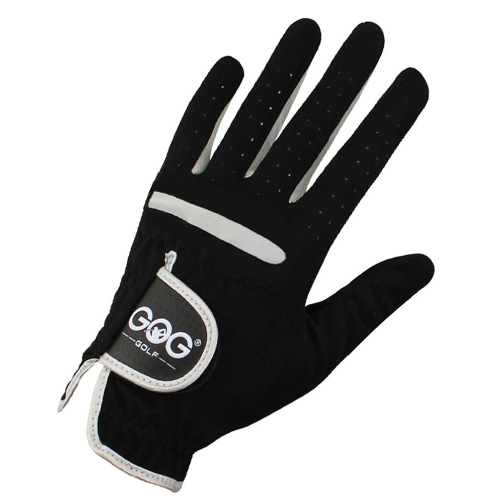 Golf Gloves For Men - Men's Golf Gloves Brand GOG GOLF Micro Soft Fiber Left Right Hand Golf Glove Color Black Drop Ship