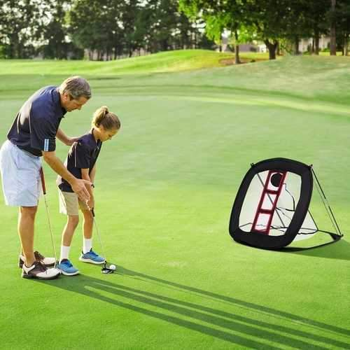 Sporting Goods > Outdoor Recreation > Golf > Golf Training Aids - Portable Pop Up Golf Chipping Net With 12 Training Balls