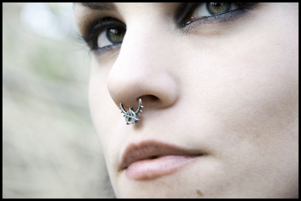 Anarchy septum ring, occult, biker & gothic jewelry by RBZ