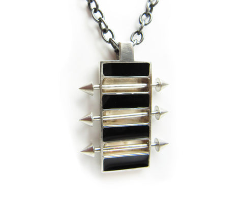 Pierced Rectangle pendant - Unrestrained Jewelry  - 1