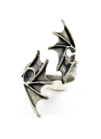 Sterling silver dragon wings ring by RBZ Jewelry