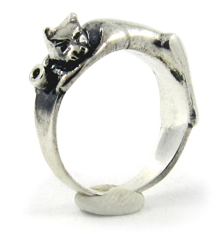 Sleeping cat ring - Unrestrained Jewelry  - 1