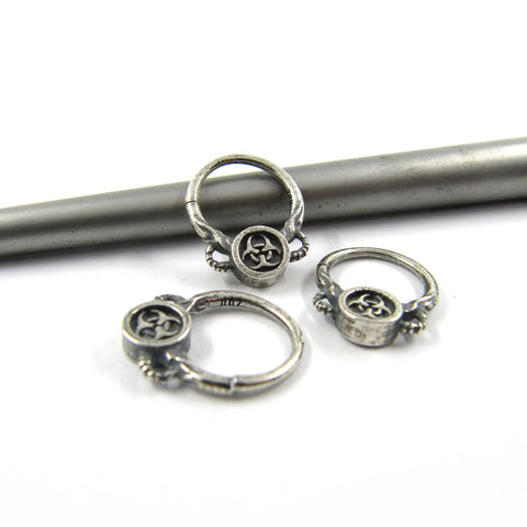 Biohazard septum ring - Unrestrained Jewelry  - 1