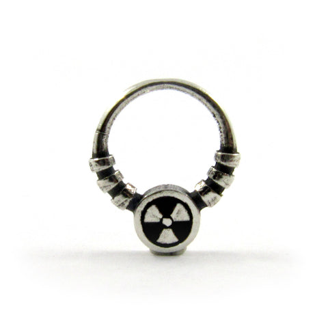 Atomic septum ring - Unrestrained Jewelry  - 1