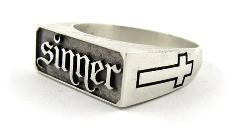 Sinner signet ring - Unrestrained Jewelry  - 1