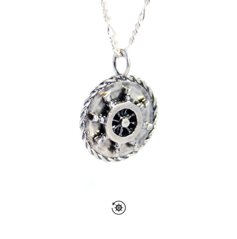 The Ship wheel pendant - Unrestrained Jewelry  - 1