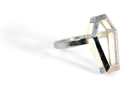 Sterling silver coffin ring by RBZ Jewelry