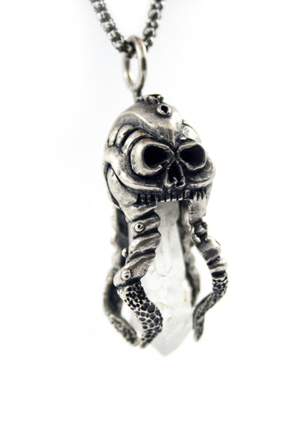 OctoSkull pendant - Unrestrained Jewelry  - 1