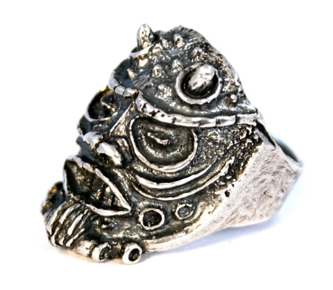 Sterling silver satan satanic lucifer demon ring by RBZ Jewelry