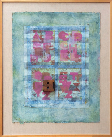 'B' at the Window - Ron King Studio - Alphabet Art