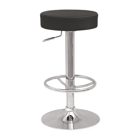 Chintaly Imports Backless Adjustable Swivel Stool with 3 Extra Slipcover Colors