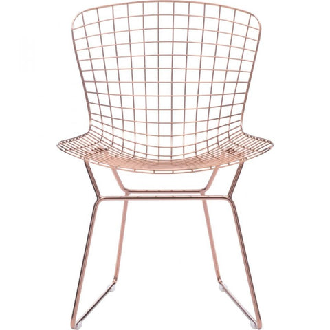 rose gold bar stools. Set Of 2 Zuo Wire Rose Gold Dining Chair - Bar Stool Co. Stools