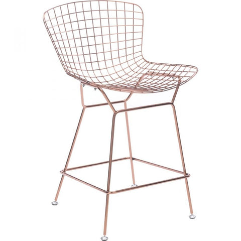 rose gold bar stools. Set Of 2 Zuo Wire Rose Gold Counter Chair - Bar Stool Co. Stools E