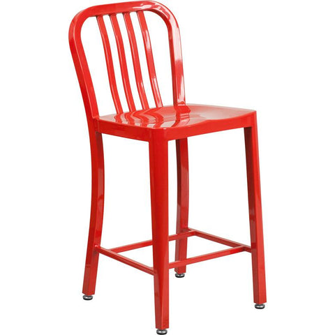 high red metal indoor outdoor counter height stool vertical slat ch large stools overstockcom canada