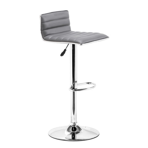 Zuo Modern 300220 Equation Height Adjustable Swivel Bar Stool, Gray - Bar Stool Co.
