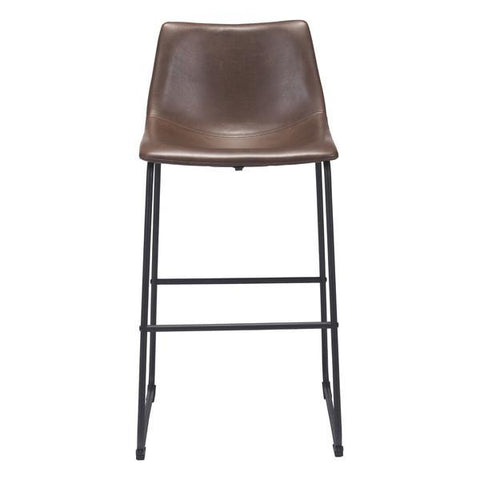 zuo modern smart bar counter stool in vintage espresso bar stool co