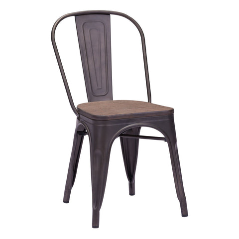 set dining tolix com chair chairs metal wood with dp costway counter copper seat industrial style stackable of and amazon