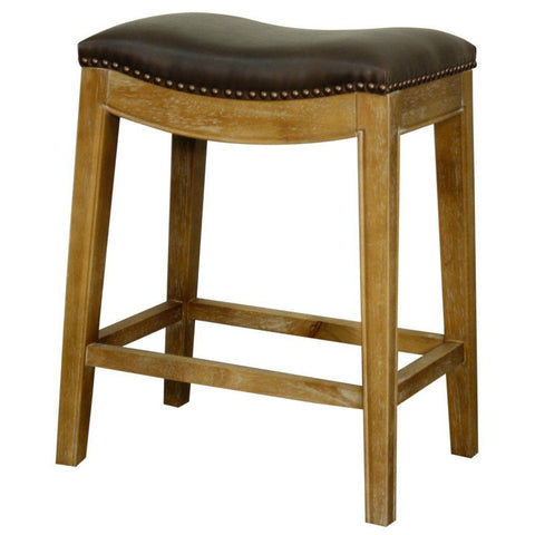 New Pacific Direct Elmo 25 Bonded Leather Counter Stool Weathered