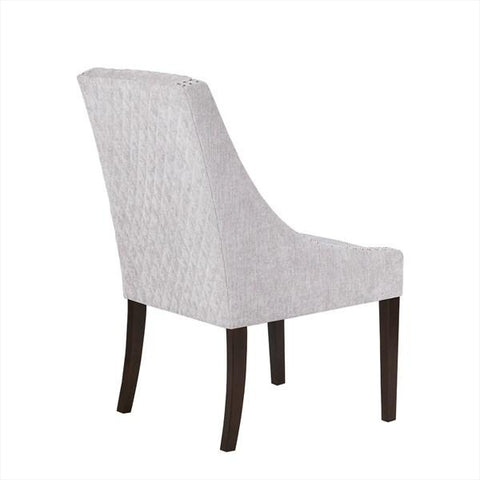 madison park sophia dining chairs in gray silver bar stool co