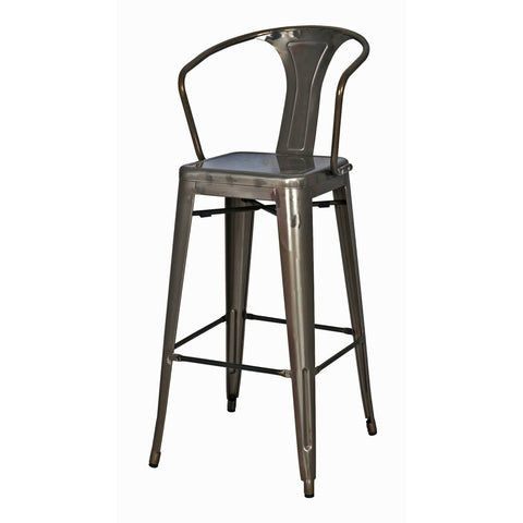Set Of 4 Tolix 26 Counter Stools With Back Bar Stool Co