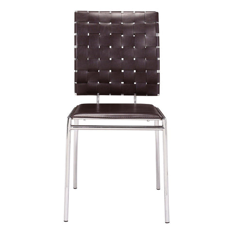 Set Of 4 Zuo Criss Cross Dining Chairs   Bar Stool Co.