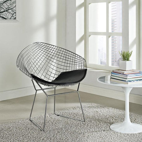 Exceptional Modway CAD Metal Mesh Lounge Chair