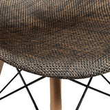 EdgeMod Woven Vortex Dining Chair, Natural Wooden Legs - Bar Stool Co.