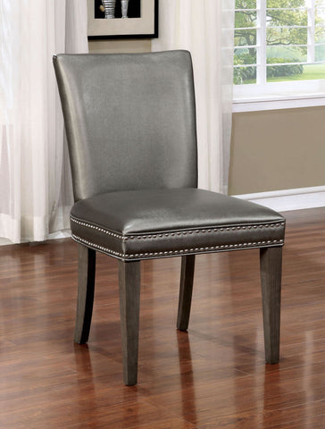 Set of 2 Benson Nailhead Trim Dining Chairs - Bar Stool Co.